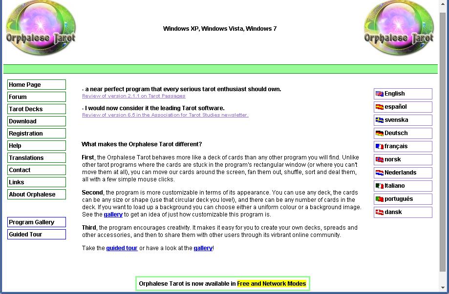 tarot software for website