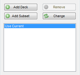 Create New Spread Add Deck button
