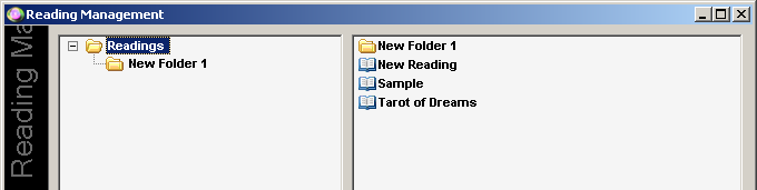 Readings Management Tool Create New Folder