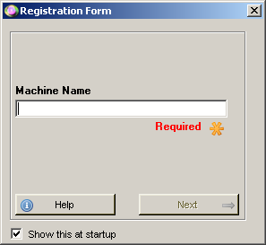 Register Machine Name