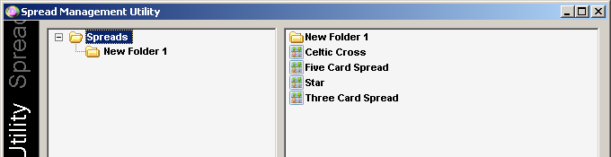 Spread Management Tool Create New Folder