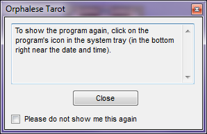 System Tray Message